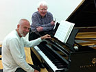 Philip Kennedy with distinguished pianist Vladimir Feltsman at Wyastone Concert Hall