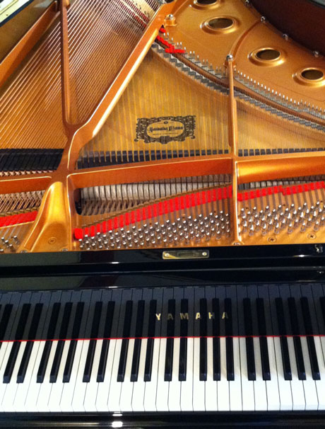 Phil's hand-crafted Yamaha S6 grand piano is available for concert hire